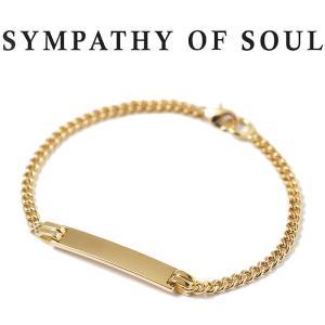 シンパシーオブソウル ブレスレット SYMPATHY OF SOUL ナローアイディーチェーンブレスレット K18YG Narrow ID Chain Bracelet  K18YG|charger