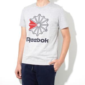 Reebok CLASSIC リーボック クラシック 2018春夏新作 スタークレスト ロゴTシャツ MEDIUM GREY ミディアム グレー|charger