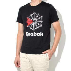 Reebok CLASSIC リーボック クラシック 2018春夏新作 スタークレスト ロゴTシャツ BLACK ブラック|charger