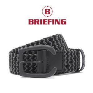 ブリーフィング ゴルフ メンズベルト BRIEFING GOLF メッシュベルト MESH BELT ブラック BLACK|charger