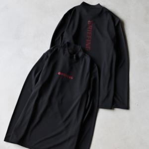 ブリーフィング ゴルフ メンズ シャツ BRIEFING GOLF ハイネックL/Sシャツ HIGH NECK LS SHIRTS ブラック BLACK 2021春夏新作|charger