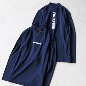 ブリーフィング ゴルフ メンズ シャツ BRIEFING GOLF ハイネックL/Sシャツ HIGH NECK LS SHIRTS ネイビー NAVY 2021春夏新作|charger