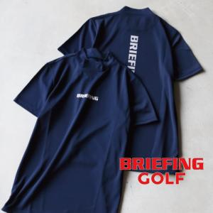 ブリーフィング ゴルフ メンズ シャツ BRIEFING GOLF ツアーハイネックシャツ TOUR HIGHNECK SHIRTS ネイビー NAVY 2021春夏新作|charger