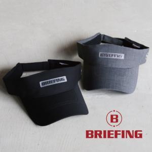 ブリーフィング ゴルフ バイザー BRIEFING GOLF テックウールバイザー TECH WOOL VISOR ブラック/L.グレー 2色展開|charger