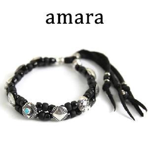 アマラ,amara ブレスレット コイン コンチョ ターコイズ ブレスレット ブラック(2色展開)取扱い 通販|charger