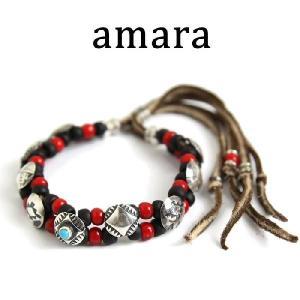 アマラ,amara ブレスレット コイン コンチョ ターコイズ ブレスレット レッド(2色展開) 取扱い 通販|charger
