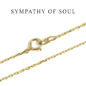 シンパシーオブソウル,Sympathy of Soul ,K18 Yellow Gold 0.42 スクエアーチェーン 45cm  通販|charger