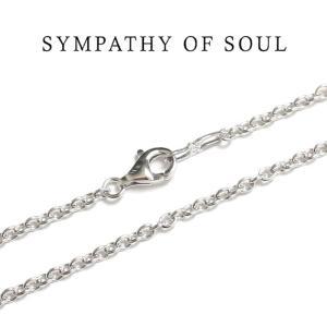 SYMPATHY OF SOUL シンパシーオブソウル Silver Azuki Chain 2.2mm Hook  shiny シルバーアズキ チェーン シャイニー 50cm|charger