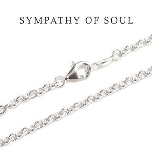 SYMPATHY OF SOUL シンパシーオブソウル Silver Azuki Chain 2.7mm Hook  shiny シルバーアズキ チェーン シャイニー 50cm|charger