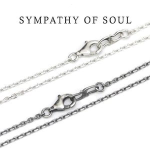 SYMPATHY OF SOUL ,シンパシーオブソウル,Silver Square Cable Chain 1.6mm Hook - 45cmスクエアーキューブチェーン 45cm Shiny,燻し 通販|charger