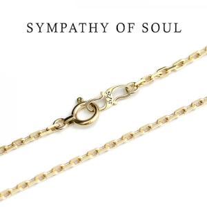 シンパシーオブソウル 通販,Sympathy of Soul ネックレス,0.53 K10 Yellow Gold,スクエアーチェーン,50cm  通販|charger