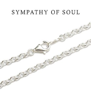 SYMPATHY OF SOUL シンパシーオブソウル Silver Azuki Chain 3.2mm シルバーアズキ チェーン 80cm|charger