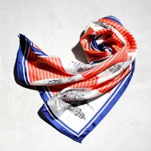 マニプリ スカーフ manipuri SILK SCARF CASTLE PINK 65×65 シルクスカーフ キャッスル柄 ピンク 2019春夏新作|charger