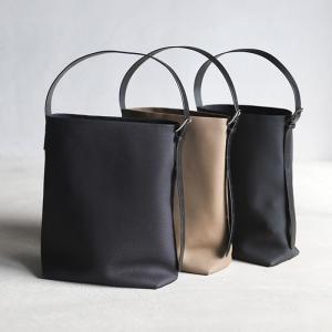 CHARGER バッグ ANNAK別注 ワンハンド2Wayレザーバッグ 2Way Leather Bag  本革 トートバッグ ショルダーバッグ ブラック/ネイビー/トープ 3色展開|charger