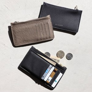 CHARGER コンパクト 財布 本革 ANNAK別注 レザーカードケースウォレット Leather Card Case wallet ブラック/ネイビー/トープ 3色展開|charger