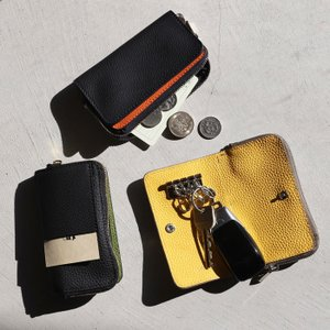 CHARGER キーケース 本革 ANNAK別注 レザー3Wayキーケース 3Way Leather Key Case ブラック/ネイビー/トープ 3色展開|charger