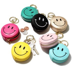 Happy Smile Pouch Holder ハッピー スマイル ポーチ キーホルダー コインケース にこちゃん 7色展開|charger