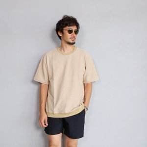 CHARGER Tシャツ チャージャー オリジナル パイル プルオーバー カットソー メンズ ベージュ 2019春夏新作|charger