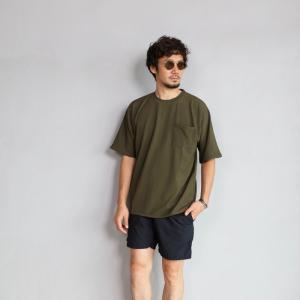 CHARGER Tシャツ チャージャー オリジナル マイクロ パイル プルオーバー カットソー メンズ オリーブ 2019春夏新作|charger