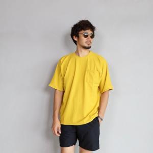 CHARGER Tシャツ チャージャー オリジナル マイクロ パイル プルオーバー カットソー メンズ イエロー 2019春夏新作|charger