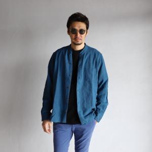 CHARGER シャツ チャージャー バンドカラー スキッパー シャツ ブルー BAND COLOR SKIPPER SHIRTS BLUE 2019春夏新作|charger