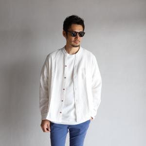 CHARGER シャツ チャージャー バンドカラー スキッパー シャツ ホワイト BAND COLOR SKIPPER SHIRTS WHITE 2019春夏新作|charger