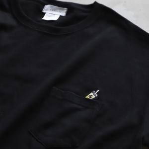 CHARGER Tシャツ ワンポイント 刺繍  Tシャツ Coffee Stand LEMONADE  EMB TEE ブラック BLACK 2020秋冬新作 charger