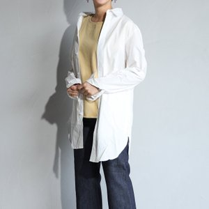 CHARGER レディース シャツ チャージャー ロングシャツ シャツコート ホワイト LONG SHIRTS WHITE 2019春夏新作|charger