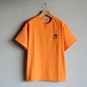 CARAVAN Tシャツ キャラバン  MEX ウルフ刺繍Tシャツ MEX WOLF EMB  T-SHIRT  オレンジ TANGERINE 2021春夏新作|charger