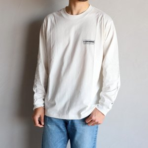 SALE 40%OFF コンバース スケートボーディング Tシャツ CONVERSE SKATE BOARDING ロゴL/S Tシャツ LOGO L/S TEE ホワイト WHITE 2020春夏新作|charger
