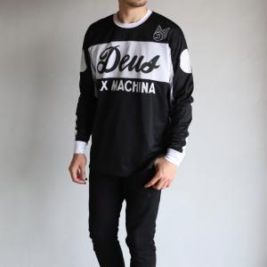 デウスエクスマキナ Tシャツ DEUS EX MACHINA セイバー モト ジャージ ブラック ホワイト SABER MOTO JERSEY BLACK WHITE 2019秋冬新作|charger