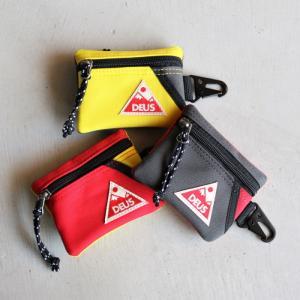 デウス コインポーチ DEUS EX MACHINA コインケース キーホルダー LOKI COIN POUCH  レッド イエロー チャコール 3色展開 charger