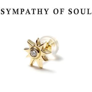 SYMPATHY OF SOUL シンパシーオブソウル Sun Pierce K18 Yellow Gold Diamond サン ピアス K18ゴールド ダイヤモンド|charger