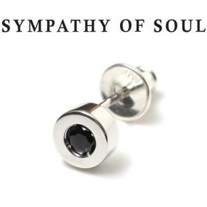 シンパシーオブソウル ピアス シルバー SYMPATHY OF SOUL Shine Pierce Silver w/Black Sapphire シャイン ピアス  シルバー ブラック サファイア|charger