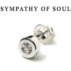 シンパシーオブソウル ピアス シルバー SYMPATHY OF SOUL Shine Pierce Silver w/ Clear シャイン ピアス  シルバークリア キュービックジルコニア|charger