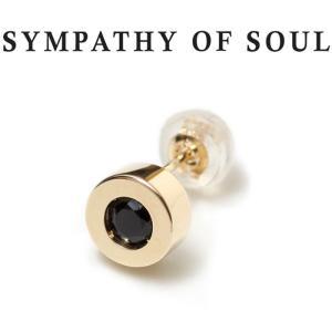 シンパシーオブソウル ピアス ゴールド SYMPATHY OF SOUL Shine Pierce K10YG w / Black Sapphire シャイン ピアス K10 イエローゴールド ブラック サファイア|charger