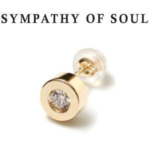 シンパシーオブソウル ピアス ゴールド SYMPATHY OF SOUL Shine Pierce K10YG w / Diamond シャイン ピアス K10 イエローゴールド ダイヤモンド|charger