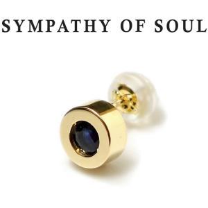 シンパシーオブソウル ピアス ゴールド SYMPATHY OF SOUL Shine Pierce K18YG w / Black Sapphire シャイン ピアス K18 イエローゴールド ブラック サファイア|charger