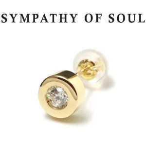 シンパシーオブソウル ピアス ゴールド SYMPATHY OF SOUL Shine Pierce K18YG w / Diamond シャイン ピアス K18 イエローゴールド ダイヤモンド|charger
