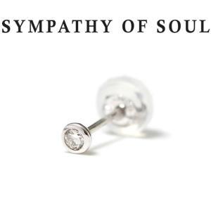 シンパシーオブソウル ピアス ゴールド SYMPATHY OF SOUL Gem Pierce K18WG w / Diamond ジェム ピアス K18 ホワイト ゴールド ダイヤモンド|charger