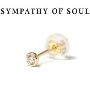 シンパシーオブソウル ピアス ゴールド SYMPATHY OF SOUL Gem Pierce K18YG w / Diamond ジェム ピアス K18 イエローゴールド ダイヤモンド|charger