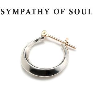 SYMPATHY OF SOUL シンパシーオブソウル Moon Hoop Pierce Silver ムーン フープ ピアス シルバー|charger