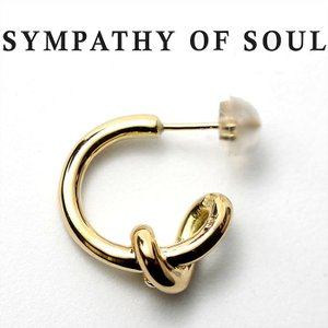 シンパシーオブソウル ピアス  SYMPATHY OF SOUL knot Pierce K18 Yellow gold ノットピアス  K18 イエローゴールド|charger