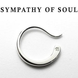 シンパシーオブソウル ピアス  SYMPATHY OF SOUL Gradation Hook Pierce Silver グラデーションフックピアス  シルバー|charger