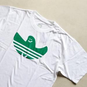 アディダスオリジナルス マークゴンザレス コラボ Tシャツ adidas originals  SHMOO TEE WHITE GREEN シュムー Tシャツ ホワイト 2019秋冬新作|charger