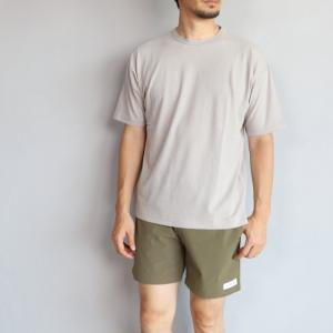 エディットクロージング Tシャツ EDIT CLOTHING リネン ナチュラルウォッシュ バインダーTグレー Linen natural wash binder tee sand gray 2019春夏新作|charger