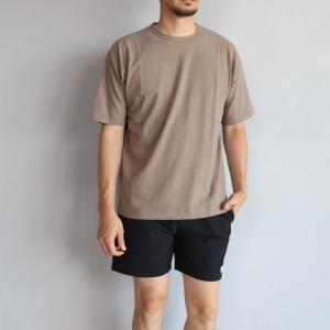 エディットクロージング Tシャツ EDIT CLOTHING リネン ナチュラルウォッシュ バインダーT モカブラウン Linen natural wash binder tee moka 2019春夏新作|charger
