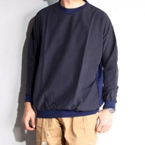SALE 40%0FF エディットクロージング EDIT CLOTHING ナイロンスポーツプルオーバー Nylon sports pullover NAVY 2019春夏新作|charger