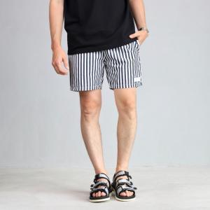エディットクロージング ショーツ EDIT CLOTHING リネンコットン ストライプ ショーツ Stripe shorts 2019春夏新作|charger