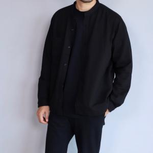 エディットクロージング シャツ EDIT CLOTHING ダブル ガーゼ シャツ ブラック Double Gauze Shirts Black 2019秋冬新作|charger